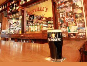 Pint of guinness in Langs Bar Grange